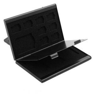 ソウテン アルミ合金製ケース メモリーカードボックス 12スロット TF SD SIM ブラック