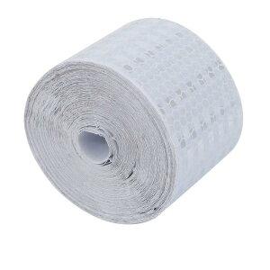 ソウテン 反射警告テープ 片面 粘着テープ フィルムストリップ ガムテープ 10m長さ 5cm幅 シルバーホワイト