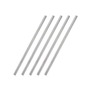 ソウテンuxcell丸棒ラウンドロッドラウンドバーDIYクラフト用304ステンレス鋼4mmx150mm5個入り