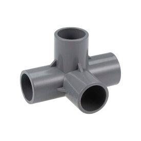 ソウテン 4方向PVCフィッティングエルボー PVC家具 灌漑スプリンクラー用 PVCエルボーフィッティング グレー 20mm、10個