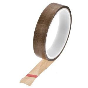 ソウテン PTFEコーティング布テープブラウン高温テープ 20mm 真空、ハンド、インパルスシーラー用 粘着テープ10 m