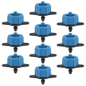 ソウテン 圧力補正ドリッパーエミッタ バーブホースコネクタ プラスチック 庭の芝生点滴灌漑用ブルー 1 GPH 50個