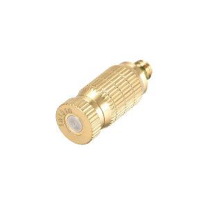 ソウテン 真鍮ミストノズル 4.7mmスレッド 霧吹きヘッド 屋外冷却システム用 ゴールデン 0.15mmオリフィス径-1個
