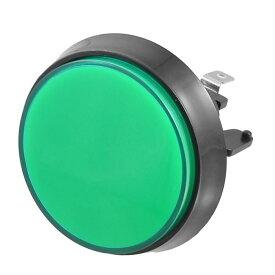 uxcell 52mm直径 グリーン キャップ押しボタンスイッチ アーケードゲーム用