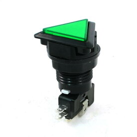 uxcell パネル装着 SPDT グリーンの三角キャップ 瞬間 ゲームの押しボタンスイッチ