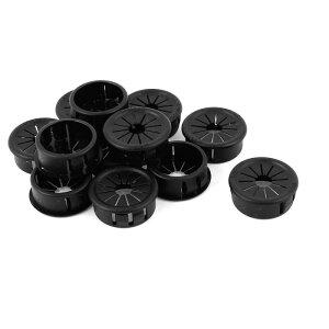 ソウテン スナップブッシング ホース ハーネス保護 グロメット プラスチック製 25mm ブラック 12個