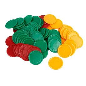 ソウテン ポーカーチップ 68個 緑黄赤 プラスチック ラウンド形状 ポーカーチップセット