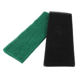 ソウテン スポンジフィルター アクアリウムフィルター 淡水 ブラック グリーン 32cmの長さ 2個入り