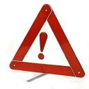 ソウテン uxcell シルバートーン レッド 金属ブラケット プラスチック 安全 警告 反射三角 車用