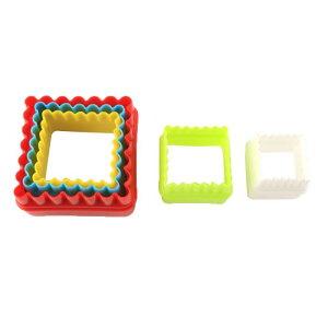 ソウテン カップケーキ型 家庭用 キッチン ベーク プラスチック 正方形 マフィン 5セット