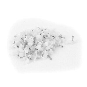 ソウテン 釘止めタイプ ケーブルステップル ケーブルクリップ サークル メタルネイル オーディオスピーカーワイヤー