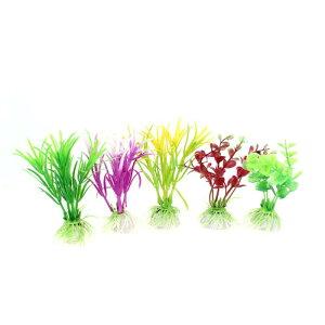 ソウテン 水族館植物の装飾 5 Pcs 11 x 4.5cm プラスチック製の水のグラス 魚ボウル水槽装飾用