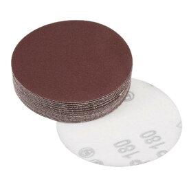 uxcell サンディングディスク フロッキングバックサンドペーパー 180グリット 酸化アルミニウム 97mm直径 25個入り