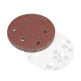 uxcell サンディングディスク 12.7cm 6穴 40グリッツ アルミニウム バックサンドペーパー サンダース用 25個入り