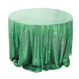 ソウテン uxcell テーブルクロス テーブルカバー 食卓カバー ぎらぎら スパンコール 結婚式 パーティー 装飾 225cm ラウンド ミントグリーン