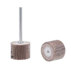 uxcell フラップホイール 15x15mm 320 グリット 研磨剤 3.2mmのシャンク付き 回転工具用 5 個入り