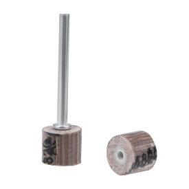 uxcell フラップホイール 10x10mm 320 グリット 研磨剤 3.2mmのシャンク付き 回転工具用 8 個入り