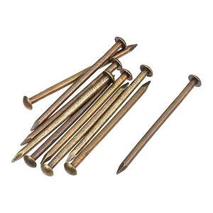 ソウテン 真鍮タイニーネイル 小さな真鍮ネイル 2.8x50mm DIY 木製 ハードウェアアクセサリー用 10個入り