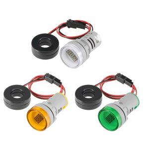 ソウテン パネルメーター デジタルパネルメータ 電流計 アンペアテスター 0-100A AC50-380V LED 22 mm インジケーターライト (イェロー グリーン ホワイト) 3個入