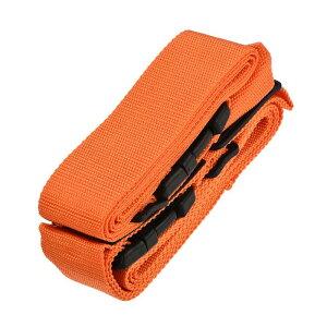 ソウテン ラゲッジストラップスーツケースベルト 2つバックル付き 2 Mx5 cm クロスアジャスタブル PPトラベルパッキングアクセサリー オレンジ