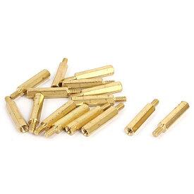 ソウテン uxcell 六角形スタンドオフスペーサー 真鍮 PCB回路 マシンボード 六角形スペーサー 黄銅素材 15個入り