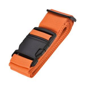 ソウテン ラゲッジベルト スーツケースストベルト トラベルストラップ バックルラベル付き 2Mx5 cm PP 調整可能 オレンジ