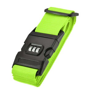 ソウテン ラゲッジストラップ トラベルストラップ スーツケースストラップ バックル付き コンビネーションロック 2Mx5 cm PP 調整可能 ライトグリーン
