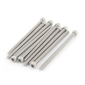 ソウテン 六角穴付ボルト ステンレス全ネジ ヘッド キャップネジ M5x90mm 304 ステンレス鋼素材 10枚入り