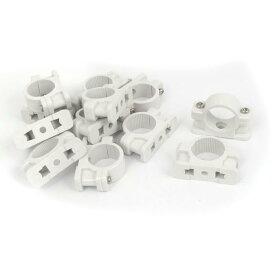 uxcell パイプクリップ パイプクランプ パイプファスナー ホワイト プラスチック製 12個入り