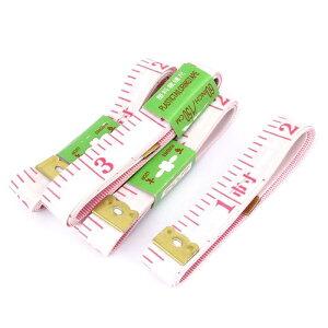 ソウテン メジャー テープ 縫製テーラー定規 ルーラー フラット プラスチック 携帯型 テーラー 測定ツール 5個入り