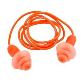 ソウテン uxcell 耳栓 オレンジレッド シリコーン&プラスチック 2.7 X1.6cm 56cm