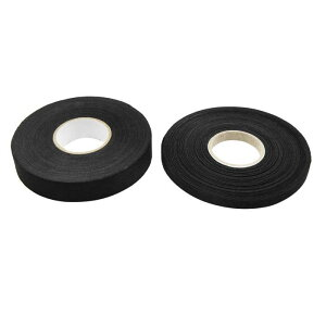 ソウテン 配線用ハーネステープ ブラック ユニバーサル 粘着布 ファブリック 自動車 配線 ハーネス 織機 テープ 2イン1