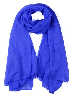 uxcellショール柔らかい軽量ロングスカーフ男女兼用ロイヤルブルー185x124cm