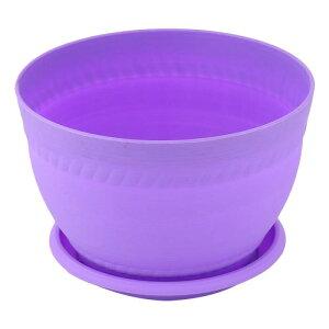 ソウテン 鉢 フラワーベース 花器 植木鉢 バルコニー プラスチック製 テーブルの装飾 花植物鉢 プランター 容器 ホルダー 紫色