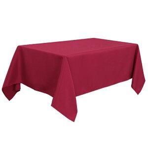 ソウテン PiccoCasa 長方形 テーブルロス 汚れに強い しわになりにくい 結婚式 ピクニック用 ダイニングテーブルカバー 屋内 屋外 レッド 150*215cm