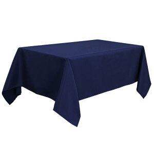ソウテン PiccoCasa 長方形 テーブルロス 汚れに強い しわになりにくい 結婚式 ピクニック用 ダイニングテーブルカバー 屋内 屋外 ネイビー 150*310cm