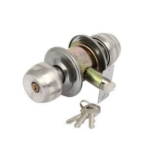 ソウテン ドアノブロック 錠 取替用 プッシュボタンロック ハードウェアノブ エントランスキーロック キー3個入り
