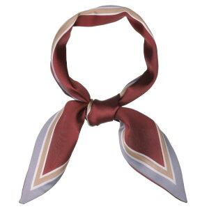 ソウテン リボンスカーフ ネッカチーフ 細い 水玉 ヘアバンド 髪飾り バッグ飾り レディース ワインレッド 86x10cm
