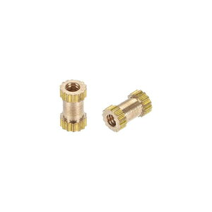 ソウテン ローレットナット インサートナット 真鍮材料 M2x6mmx3.5mm 防錆性 熱伝導性 50個入り