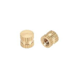 ソウテン ローレットナット インサートナット 真鍮材料 M3x5mmx5mm 防錆性 熱伝導性 50個入り