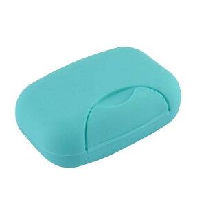ソウテン ソープケース プラスチック材料 カバー付き 長方形 ブルー 11.5 x 7.5 x 4cm 家庭用品