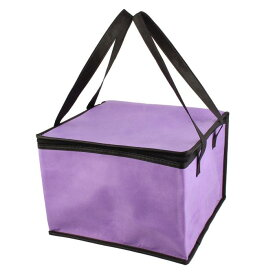 ソウテン uxcell 保冷バッグ クーラーバッグ おりたたみ可能 ピクニック 旅行 正方形 食物 飲み物 果物 保温 保冷 収納 トート型 バッグ 紫色