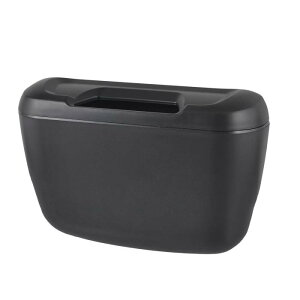 ソウテン 車内用ゴミ箱 ゴミボックス フック ブラック プラスチック 自動車