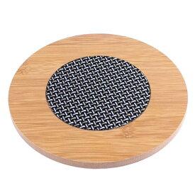 ソウテン uxcell コースター 茶托 カップマット 滑り止め 速乾性 台所用 木製のテーブルマット 耐熱マット 耐熱パッド テーブルパッド カップマット 丸い形 ラウンド 20日発送予定