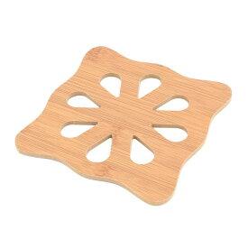 ソウテン uxcell コースター マット ホーム 木製 耐熱 テーブル カップ ボウル ポット パッド ライト 茶色 14.1 x 13.9cm 20日発送予定