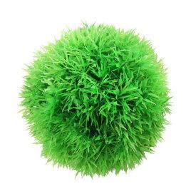 ソウテン 水族館のプラスチック製の植物 セラミック製グリーン モスまりもボールデザイン