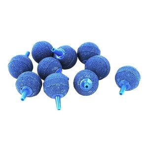 ソウテン アクアリウム エアストーン ミネラル ブルー ボール形状 水槽ストーン
