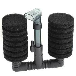 ソウテン 水槽のスポンジフィルター 吸着カップ 14 x 4.7 x 13.3cm ブラック