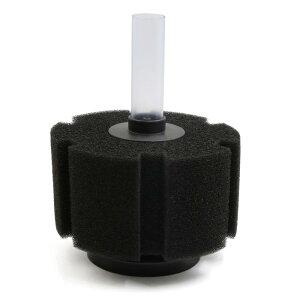 ソウテン アクアリウムスポンジフィルター スポンジ ブラック 12×16.3cm 1個入り