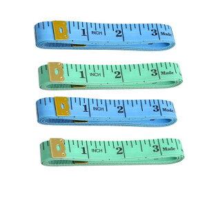 ソウテン ソフトテープメジャー 縫製テーラー定規 150cm/60 inch ブルーとブラックとグリーン 携帯型 ソフトプラスチック